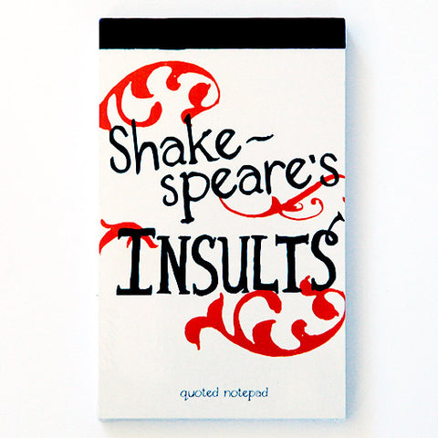 Shakespeare's Insults Notepad