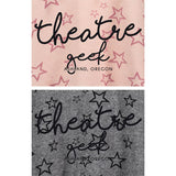 Theatre Geek Cropped Hoodie Close Up Color Options