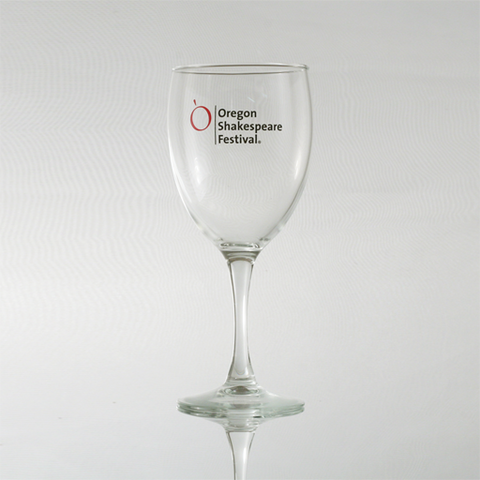 Wine Glass with Oregon Shakespeare Festival Logo
