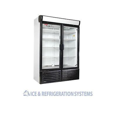 TORREY 36 CUBIC FOOT DOUBLE GLASS DOOR REFRIGERATOR COOLER MERCHANDISER R-36