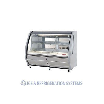 "TORREY 75"" WHITE REFRIGERATED DELI BAKERY CASE COOLER MERCHANDISER TEM-200"