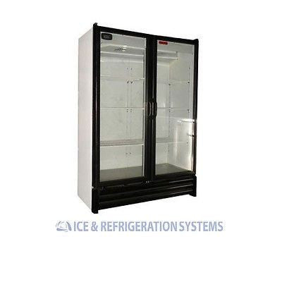 TORREY 28 CUBIC FOOT DOUBLE GLASS DOOR REFRIGERATOR COOLER MERCHANDISER VRD-28