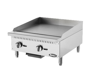 "Atosa 24"" Commercial Countertop Gas / Propane Heavy Duty Griddle ATMG-24"