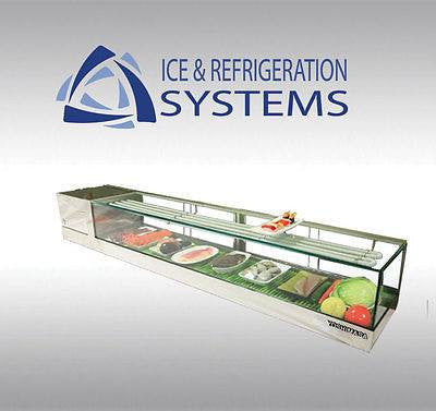 "48"" LEFT YOSHIMASA GARASU WIDE FLAT TOP REFRIGERATED SUSHI DISPLAY CASE"