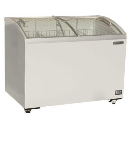 "Metalfrio 52"" Commercial Curved Top Glass Novelty  Ice Cream Freezer Chest MSC52"