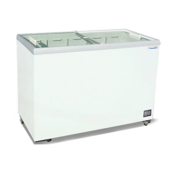 "Metalfrio 41"" Commercial Flat Top Glass Novelty Ice Cream Freezer Chest MSF41"