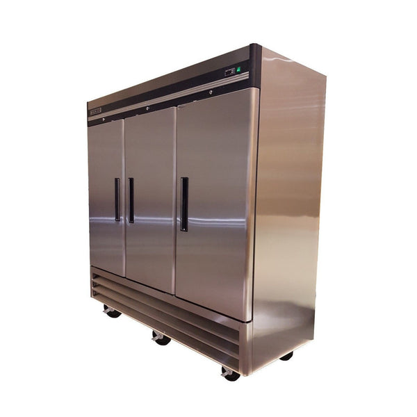 Sun Ice Commercial 72cf 3 Door Stainless Steel Freezer SUNRF71