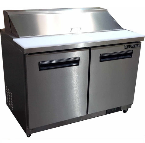 "Sun Ice 48"" Commercial Salad & Sandwich Refrigerator Prep Table Cooler SUNST-48"