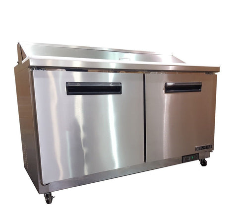 "Sun Ice Commercial 60"" Salad & Sandwich Prep Table Refrigerator Cooler SUNST-60"