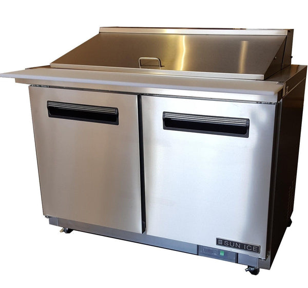 "Sun Ice 48"" Commercial Salad & Sandwich Mega Top Prep Table Cooler SUNST-48-18"