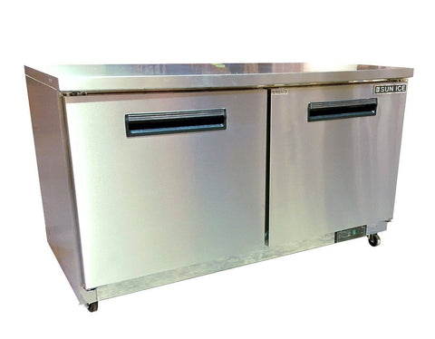 "Sun Ice 60"" Commercial Undercounter Reach In Refrigerator Cooler SUNUR-60"