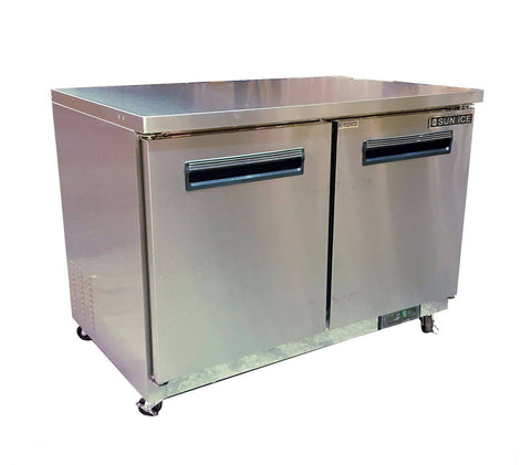 "Sun Ice  48"" Commercial Undercounter Reach In Freezer SUNUF-48"