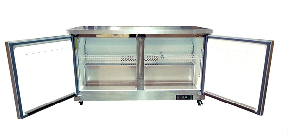 "Sun Ice 60"" Commercial Undercounter Worktop Reach In Freezer SUNUF-60"