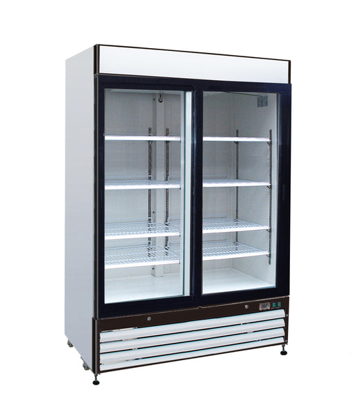 Sun Ice 48 cf Beer & Soda 2 Glass Door Refrigerator Cooler Merchandiser SI-48RB