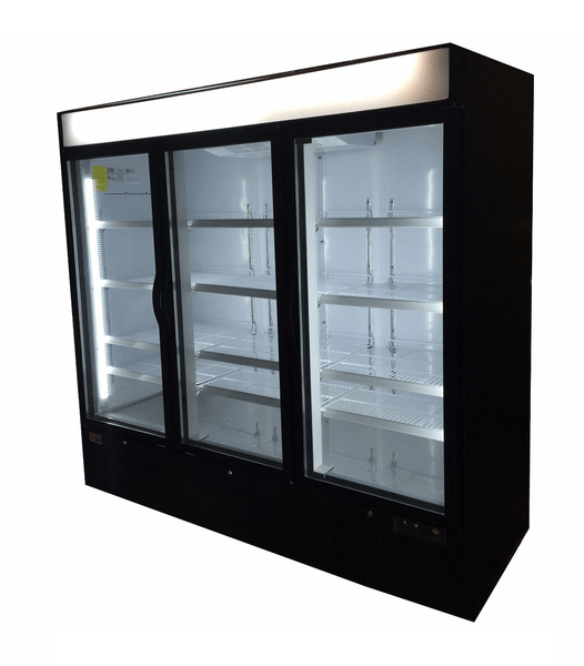 Sun Ice 72 Cubic Foot Commercial 3 Glass Door Merchandiser Freezer SI3-72FB