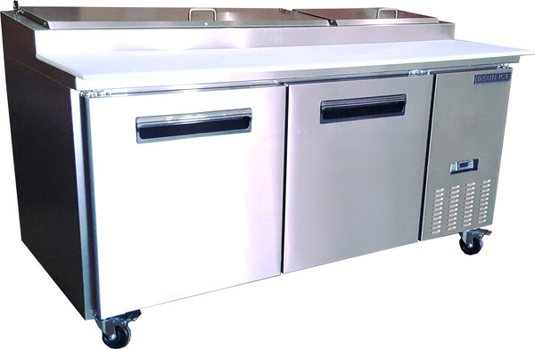 "Sun Ice Commercial 71"" Pizza Prep Refrigerator Cooler Table SUNPT-67"