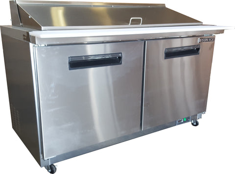 "Sun Ice 60"" Commercial Salad & Sandwich Mega Top Prep Table Cooler SUNST-60-24"