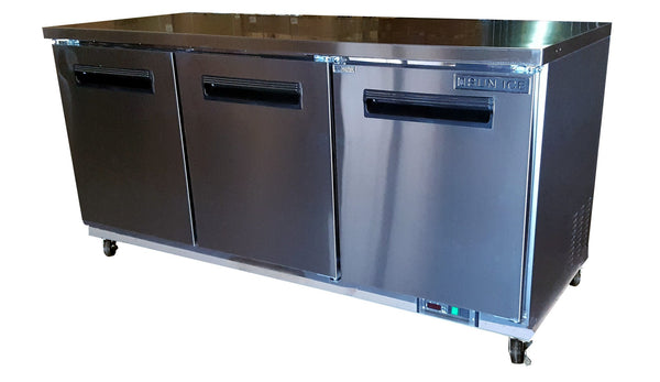 "Sun Ice Commercial 72"" Undercounter Reach In Refrigerator Cooler SUNUR-72"