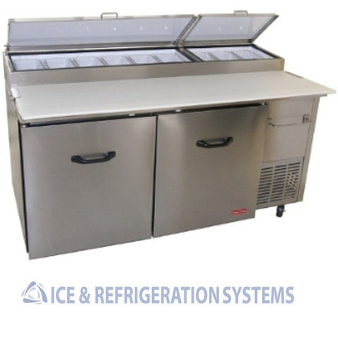 "TORREY COMMERCIAL 67"" REFRIGERATOR COOLER PIZZA / SALAD PREP TABLE PTP-170-11"
