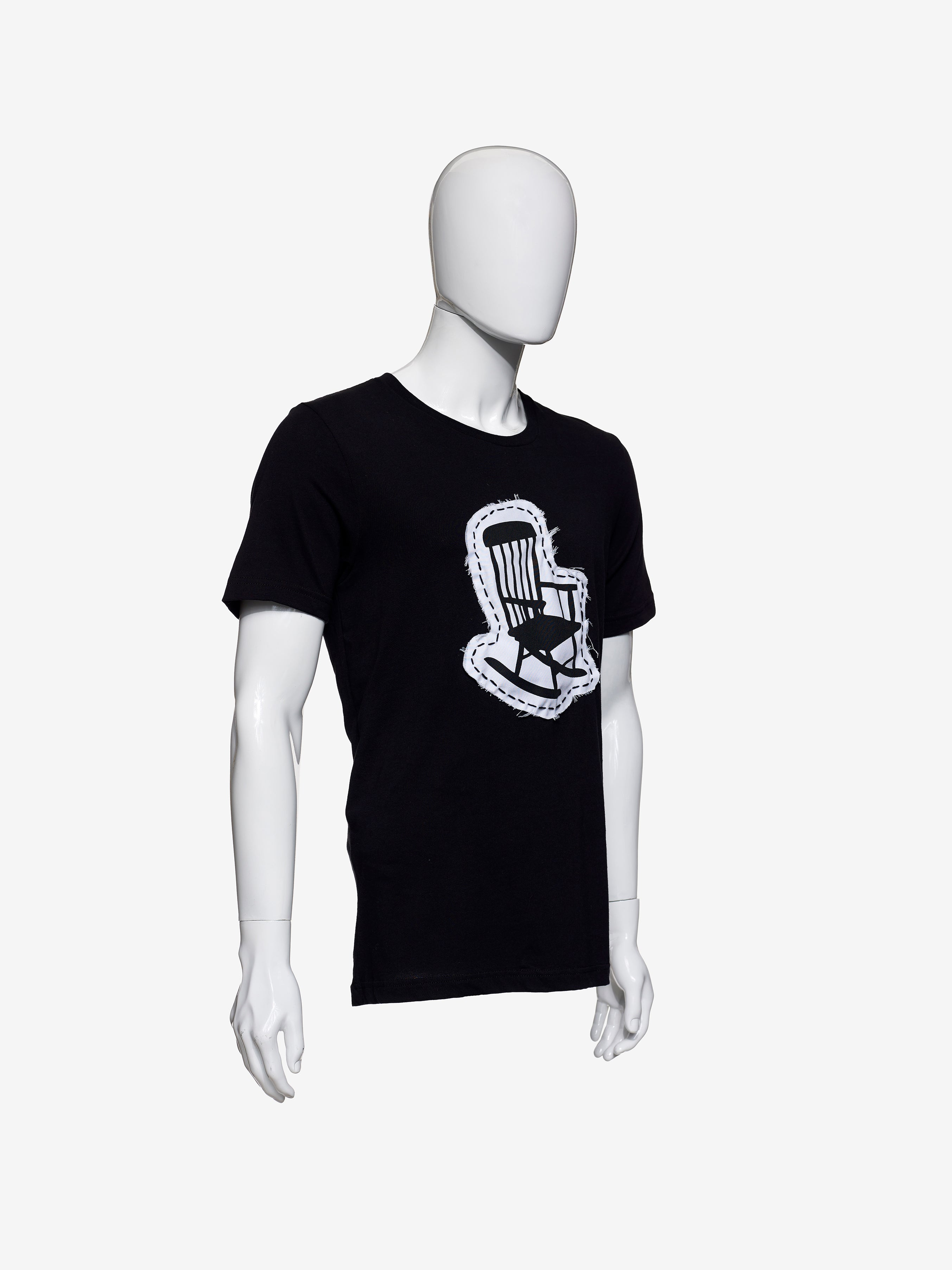 ROCKING CHAIR PATCHED LOGO TEE - BLACK