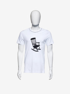 ROCKING CHAIR LOGO TEE - WHITE