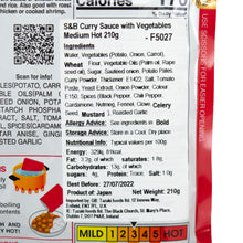 Load image into Gallery viewer, S&B  Curry Sauce with Vegetables Medium Hot 210g