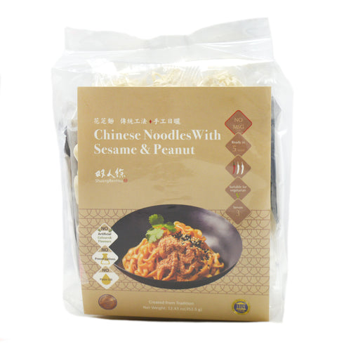 SRH Chinese Noodles with Sesame and Peanut Sauce Sachets 3pc