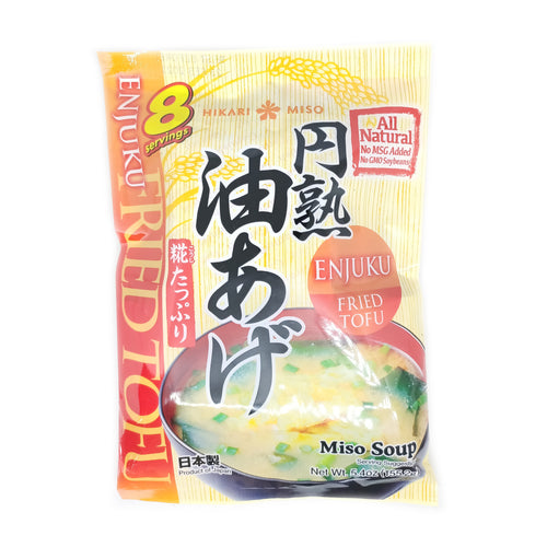 Hikari Instant Miso Soup with Fried Tofu -Enjuku Aburaage 8pc