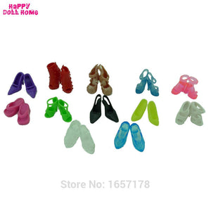 12 Pairs Mixed Fashion Colorful High Heels Sandals