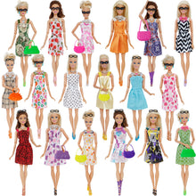 Load image into Gallery viewer, 10 Mix Fashion Cute Dress+ 4 Glasses+ 6 Necklaces+2 Handbag+ 10 Shoes Dress