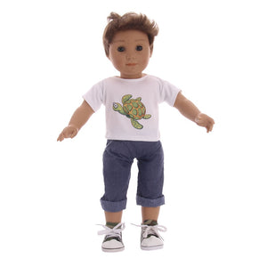 Cute Animals Patters T-shirt+Pants