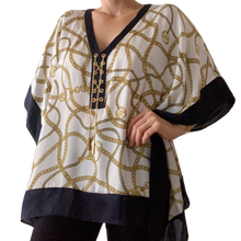 Load image into Gallery viewer, Michael Kors poncho/ bluse hvit S-M