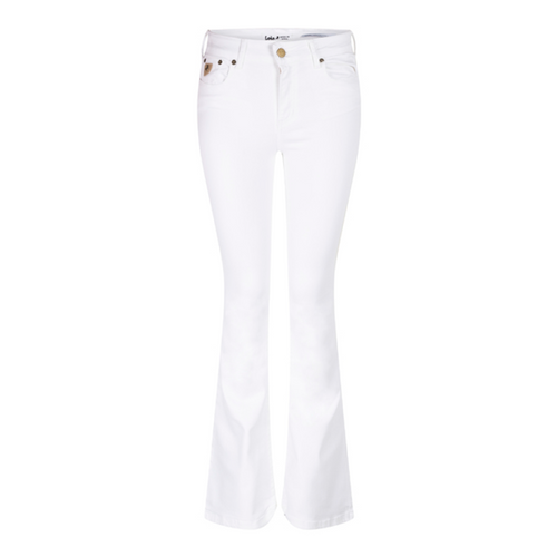 Lois Raval-16 flare jeans beige 25