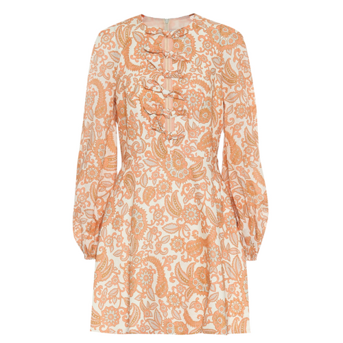 Zimmermann Peggy orange minidress S