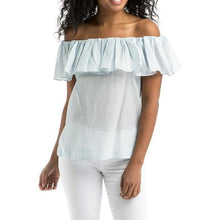 Load image into Gallery viewer, Designers Remix off shoulder Milly top XS