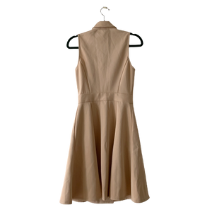 Marciano beige zipper dress XS