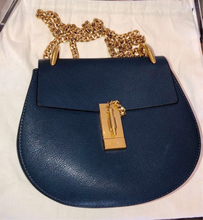 Load image into Gallery viewer, Chloé Drew Bag navy