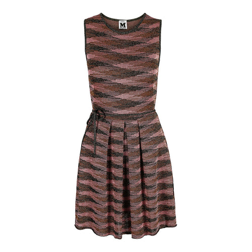 Missoni Metallic knit fabric dress S/M