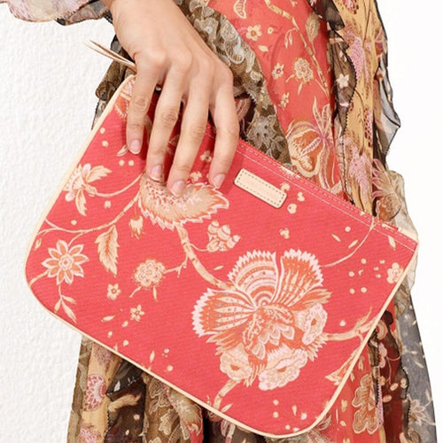 Zimmermann canvas clutch med blomsterprint