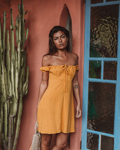 Violet Mini Dress in Marigold