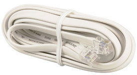 RJ12 White Telephone Lead- 3m