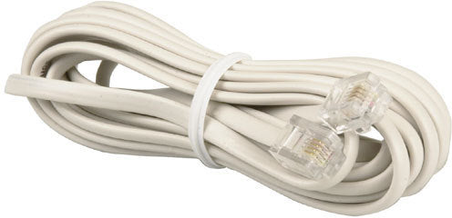 RJ12 White Telephone Lead- 5m