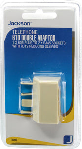 605 To 2x RJ12/45 Telephone Double Adaptor