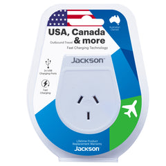 Outbound Slim USB Travel Adaptor- USA