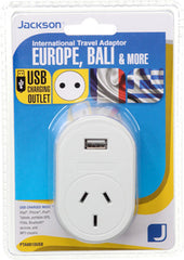 Outbound USB Travel Adaptor- EU