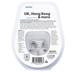 Outbound Slim USB-A & C Travel Adaptor- UK & Hong Kong