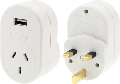 Outbound USB Travel Adaptor- UK & Hong Kong