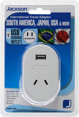 Outbound USB Travel Adaptor- South America & Japan