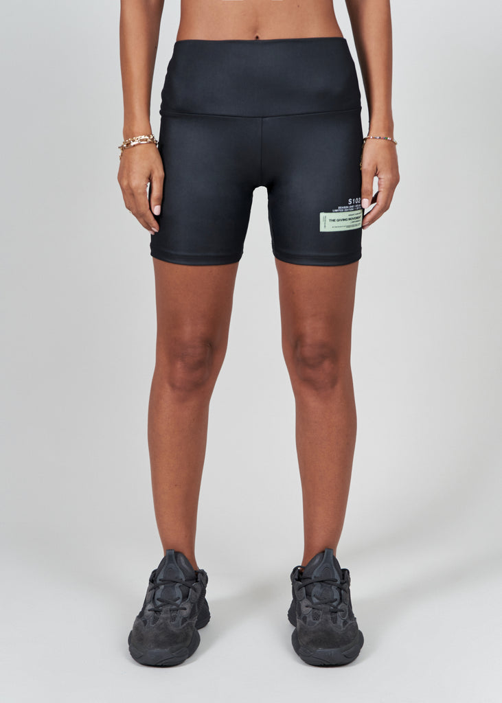 S29SHNV3 Softskin Liquid Shine Recycled Biker Shorts