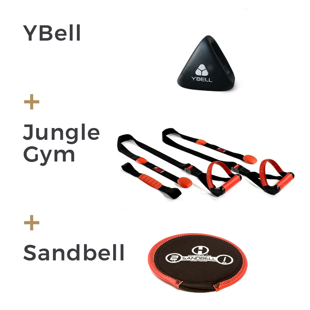 Ybell 4 in 1, Ybell for sale, Ybell UK, Home Gym Set, Jungle Gym XT Suspension Trainer, suspension trainer UK, Sandbell uk, Hyperwear Sandbell, door anchors, home gym, gym equipment, anchors, routines at home